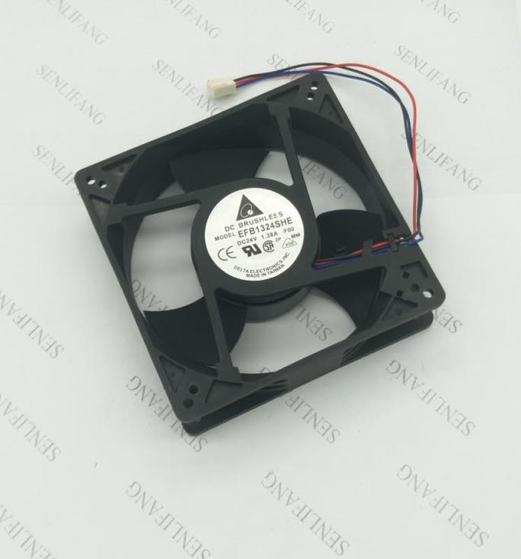 Free Shipping EFB1324SHE 4C58 DC 24V 1.38A 3-wire 127x127x38mm Server Cooler Fan