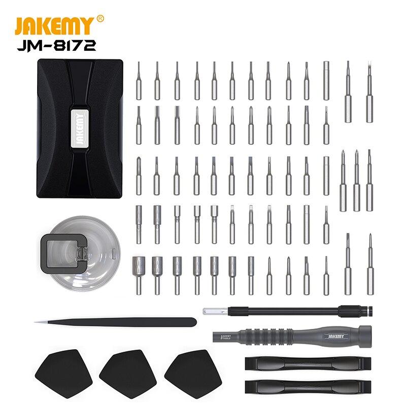 JM-8172 precisão chave de fenda conjunto magnético multifunções chave de fenda bits para iphone samsung telefone tablet relógio ferramentas reparo kit