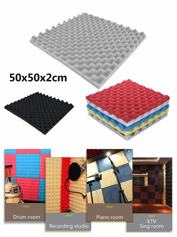 Adesivos de parede de estúdio de espuma, 50x50x2cm adesivos de parede à prova de som painel de espuma acústica esponja de absorção de som estúdio ktv à prova de som