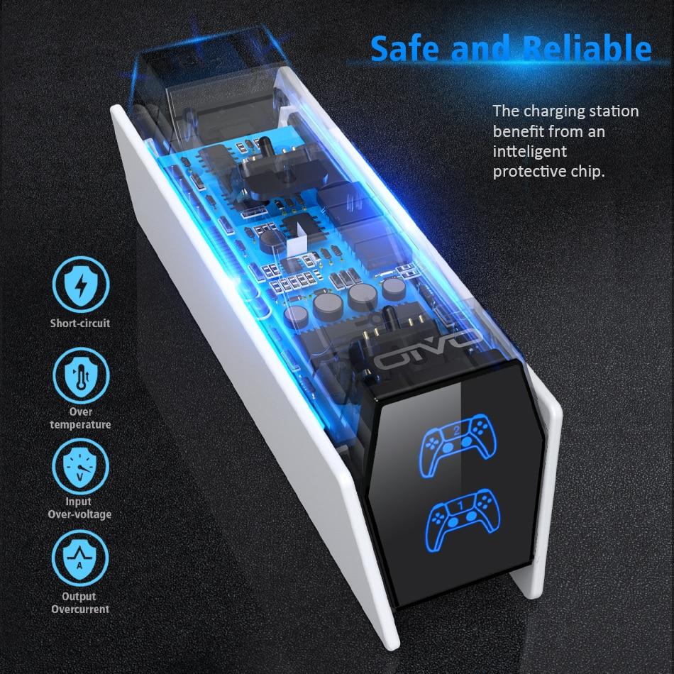 Carregador Duplo para Controladores de PS5 Oivo