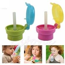 NEW! Universal baby water bottle straw cap cute easy portable hygiene children drink feeder