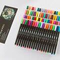 80 цветов Fineliner ручки Ассорти чернил на водной основе искусства Рисование волокна для создания живописи  Тщательная живопись  комическое соз...
