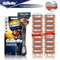 Безопасная бритва Gillette Fusion 5 Proglide, прямая Бритва для мужчин, бритвенный станок с лезвиями, кассеты для бритья, бритва для бороды