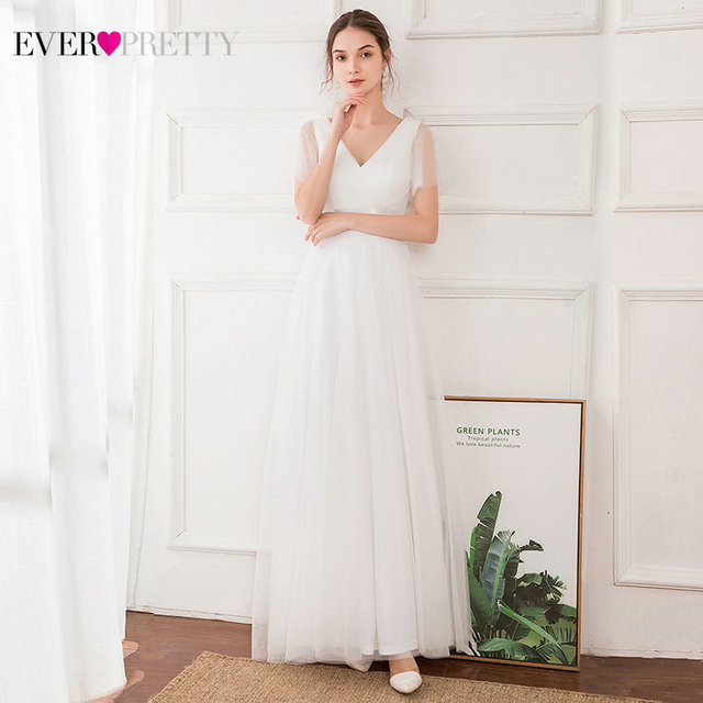 Plus Size Blue Prom Dress 2020 Ever Pretty EP07962 Elegant V-Neck Tulle Women Sexy Long Prom Dresses Formal Summer Party Gowns 3