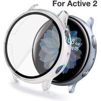 Volle Abdeckung Fall Gehärtetes Glas Screen Protector Für Samsung Galaxy Uhr Aktive 2 40mm 44mm 40 44mm schutz Film Schutz