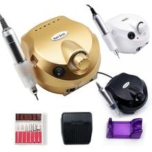 Máquina pulidora eléctrica para uñas Kit de manicura y pedicura, taladro acrílico para limar uñas, cortaúñas, RPM 35000/20000