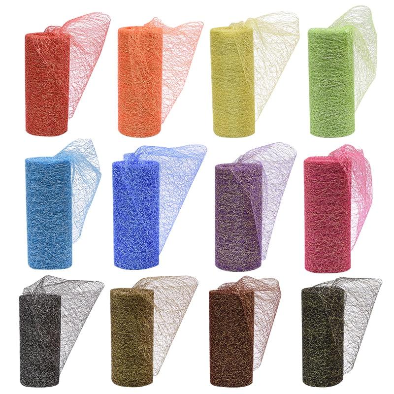 10Yards 15cm Gold Silver Organza Tulle Roll Spool Fabric Ribbon DIY Craft Tutu Skirt Chair Sash Baby Shower Wedding Party Decor