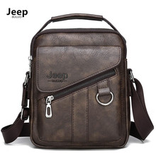 JEEP BULUO Men BAGS Crossbody Shoulder Bag For Male Split Le
