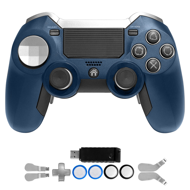 PS4 Gamepad,Dual Vibration Elite PS4 2.4G Wireless Game Controller Joystick for Play Station 4 Video Gaming Console and PS3 1