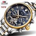 TEVISE Мужские автоматические механические часы с турбийоном и скелетом, лучший бренд, роскошные модные деловые повседневные мужские наручны...
