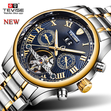 TEVISE Men's Automatic Mechanical Watches Tourbillon Skeleton Top Brand Luxury Fashion Business Casual Male Wristwatch Relogio men watch automatic mechanical luxury brand clocks fashion man watches casual skeleton waterproof male wristwatch relogio hommer