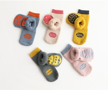 1Pair 0-5Y Infant Baby High Socks Baby Socks For Girls Cotton Cute Winter Thicken Boy Toddler Socks Baby Clothes Accessories image