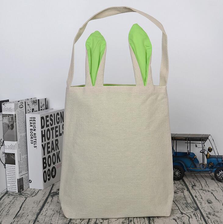 Джутовый мешок с ручками пасхальное вечерние поставки заячьи ушки Пасхальная корзинка кролик в подарок, для ушей сумка Счастливой Пасхи