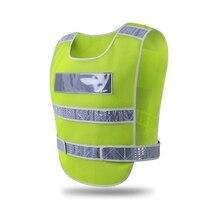Светоотражающий жилет высокая видимость безопасности шестерни открытый предохранительный бак верхняя конструкция предупреждение для водителя внешняя одежда
