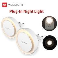 Globale Version Yeelight Plug-in LED Nacht Licht EU Stecker 2700K Farbe Temperatur Ultra-Low Power Verbrauch auto Turn On/Off