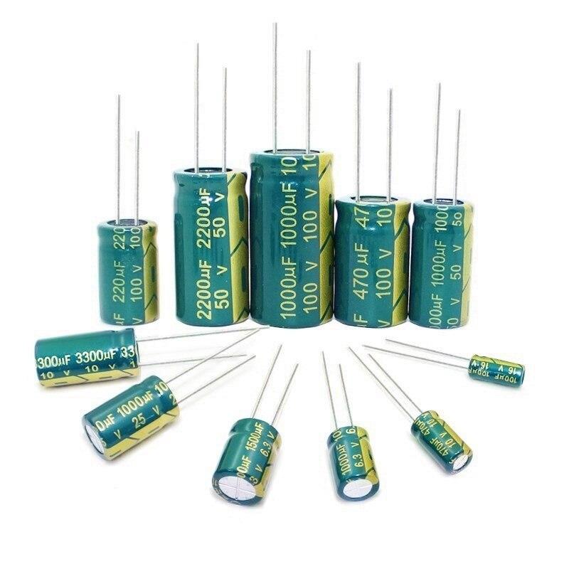 Высокая частота низкая ESR 6,3 V 10V 16 V, алюминиевая крышка, 25В 35В с алюминиевой крышкой, 50В 400V 450V 22 мкФ 47 мкФ 100 мкФ 220 мкФ 330 мкФ 470 мкФ 680 мкФ 1000 мкФ 1500 мкФ 2200 мкФ 3300 мкФ|Конденсаторы|   | АлиЭкспресс