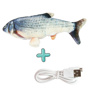Electronic Cat Toy 3D Fish Electric Simulation Fish Toys for Cats Pet Playing Toy cat supplies juguetes para gatos 8