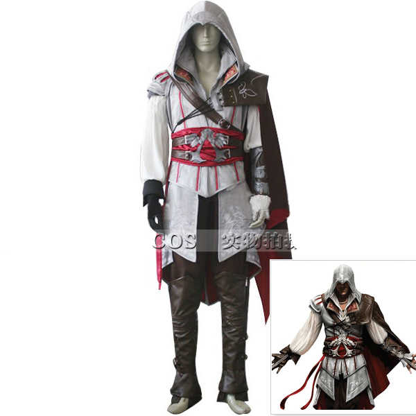 Assassins Ezio cosplay Costume Men Halloween Costumes Ezio Cosplay Full Set Customized size