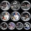 10 adet/grup Mercury İkizler Apollo 50th yıldönümü hatıra parası abd uzay astronotlar ay ayak izi paraları koleksiyon