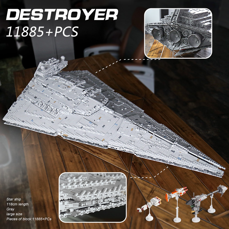 Star Toys Wars 13135 11885Pcs Bricks Imperial Destroyer Set MOC-23556 Model Kit Compatible 75252 Building Blocks New Year Gifts