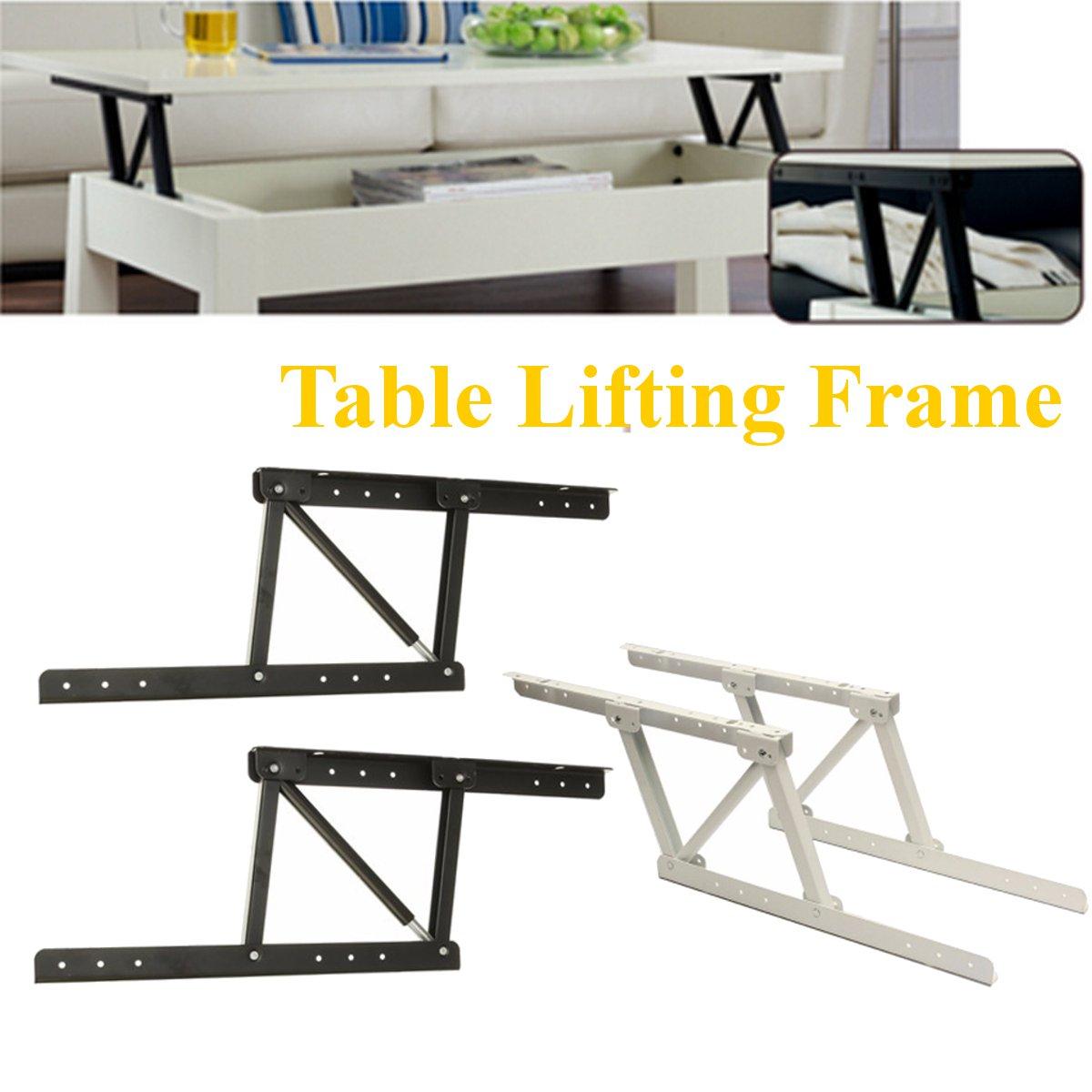 2pcs/set Folding Spring Tea Table Hinge Furniture Lift Up Top Mechanism Hardware Lifting Rack Shelf For Coffee Computer Table