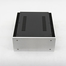 Full Aluminum silver HIFI Amplifier Enclosure Preamp Chassis / DAC Case / PSU Box 211*90*257mm(China)