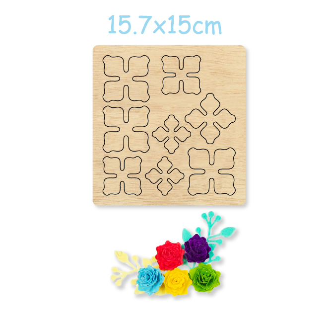 3D Flower Easy to Make Flower Wooden Mold Cutting Wood Dies For DIY Earrings/Headwear/Brooch/Clothing Accessories 2020 New