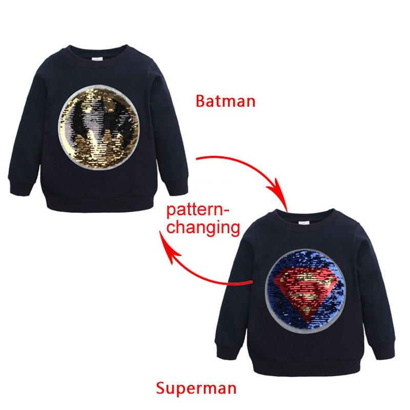Boys Captain America Sweatshirt Superman Hoodie Shirt Sweatshirt