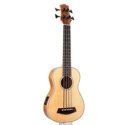 Guitarra Electrica de madera de 30 pulgadas 4 cuerdas ukelele instrumentos musicales profesional Picea Asperata U bajo ukelele UB-513