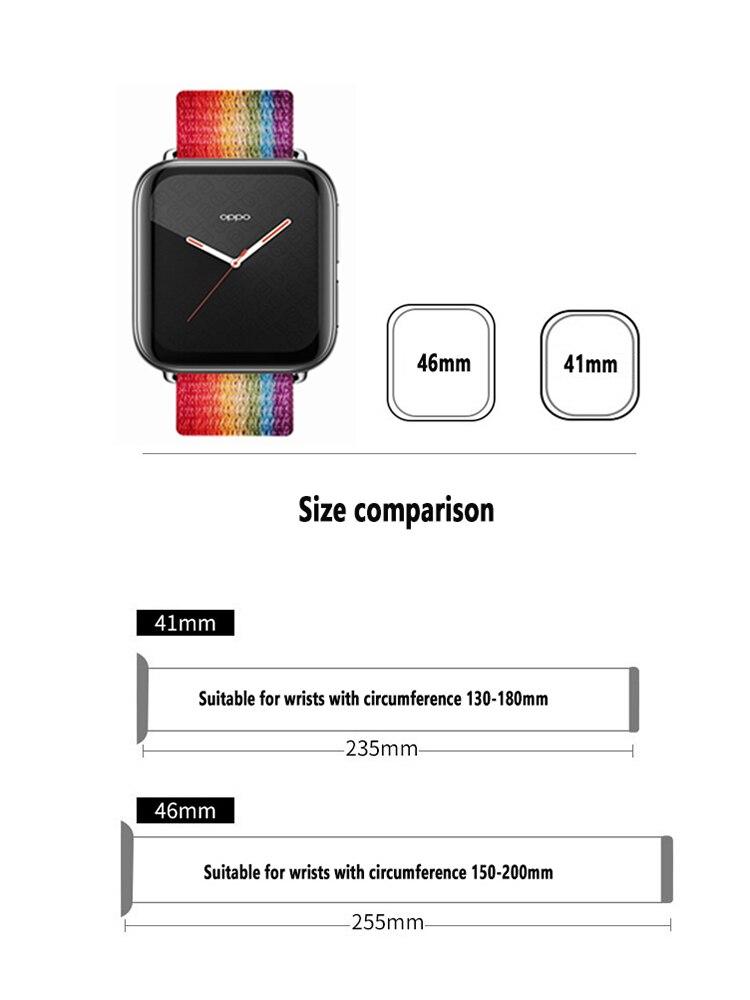 Купить нейлоновый ремешок для часов oppo 41 мм 46 мягкий браслет цветной