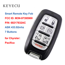 Keyecu yakınlık akıllı uzaktan anahtar Fob Chrysler Pacifica için 2017 2018 2019 2020 M3N 97395900 68217832AC 4A çip