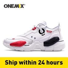 ONEMIX Zapatillas deportivas para hombre y mujer, calzado deportivo Unisex de talla grande, con amortiguación de cuero, tenis, 2020