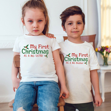 Tshirt Kids Girls Clothes Boys Children My First as Fashion Top-Tee Holiday Christmas