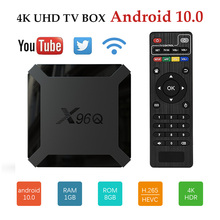 Android 10 TV Box X96Q Rockchip H313 4K HDR Youtube Media Player 2GB 16GB Wifi 1080P Smart TV Netflix Google Voice Set Top Box 2019 best stable media player smart tv box netflix youtube h96max max rk3318 android tv box 2 4 5 0g wifi h 265 tv set top box