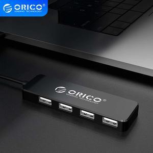 ORICO USB2.0 HUB Multi 4 ports haute vitesse USB séparateur Mini adaptateur OTG Portable pour Windows Mac OS Android accessoires d'ordinateur Portable