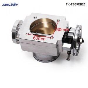 Image 2 - TANSKY   Universal High Flow Aluminium 65mm Intake Manifold Throttle Body For Nissan RB20 TK TB65RB20
