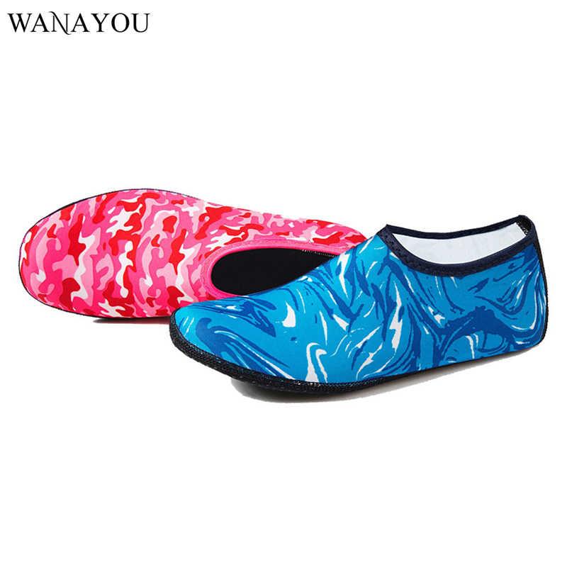 WANAYOU Yaz Aqua Çorap Yüzme, Işık su ayakkabısı, Erkek Kadın Aqua plaj ayakkabısı, kaymaz Yüzme Sahil Sneaker Çorap