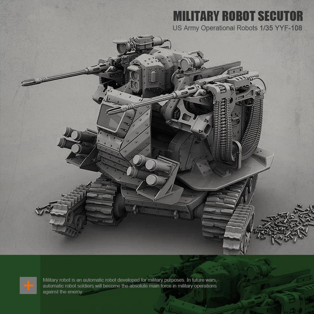 1/35 Resin Figure Resin Soldier  Military Robot Unpainted  YYF-108