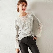 100% кашемировый пуловер Женский Повседневный стильный свитер