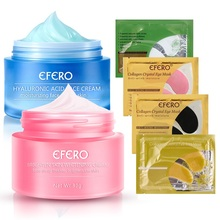 лучшая цена efero Hyaluronic Acid Face Cream Day Night Cream Moisturizer Freckles Remove Cream Fade Spots Brighten Whitening Cream Skin Care