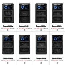 NEUE Tragbare Dual Slot USB Kamera Batterie Ladegerät für Sony A6300 6500 A7M2 R2 mit LCD Display Schnelle Kamera Batterie ladegerät
