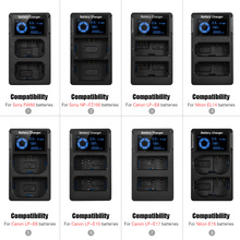 NUOVO Portatile Dual Slot USB Batterie per Foto/Videocamera caricabatterie Per il Sony A6300 6500 A7M2 R2 CON Display LCD RAPIDO Batterie per Foto/Videocamera caricatore