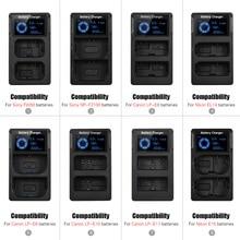 新ポータブルデュアルスロット USB カメラソニー A6300 6500 A7M2 R2 lcd 表示のクイックカメラバッテリー充電器