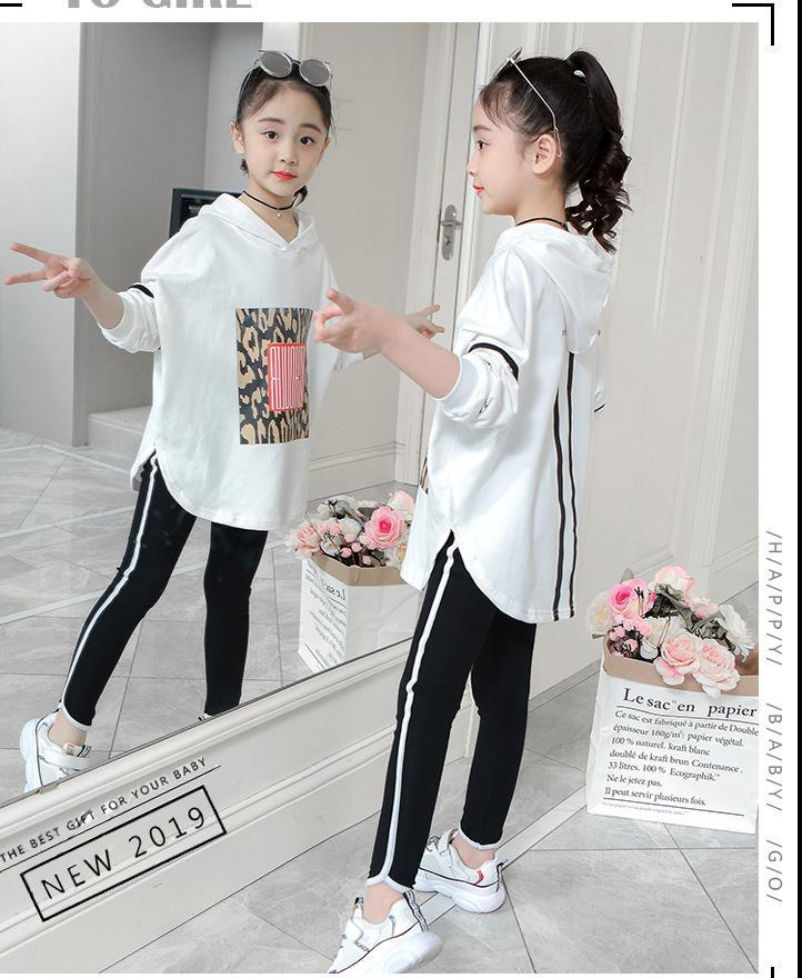 Boutique enfants vêtements automne printemps filles ensemble à manches longues hauts + pantalon 2 pièces survêtement enfants vêtements tenue survêtement