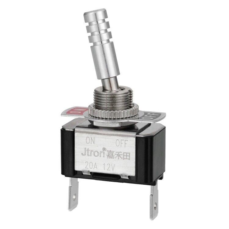 Interruptor de toggle 12v 20a 2p spst on-off do metal do caminhão do barco do carro do automóvel 12mm para o esporte de corrida