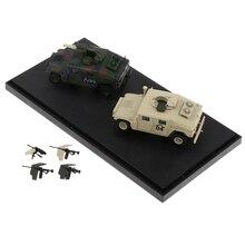 Vehículo militar a escala 1:72, modelo de juguete coleccionable con estuche de exposición