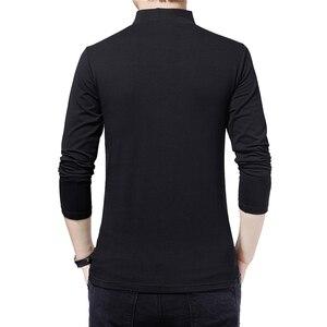 Image 2 - BROWONยี่ห้อเสื้อยืด2020ชายTshirtฤดูใบไม้ร่วงแฟชั่นเสื้อแขนยาวผู้ชายSlim Fit PlusขนาดM 5XLผ้าฝ้ายTเสื้อ