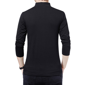 Image 2 - BROWON Brand T shirt 2020 Mens Tshirt Autumn Fashion Long Sleeved T shirt Men Slim Fit Plus Size M 5XL Cotton T Shirt