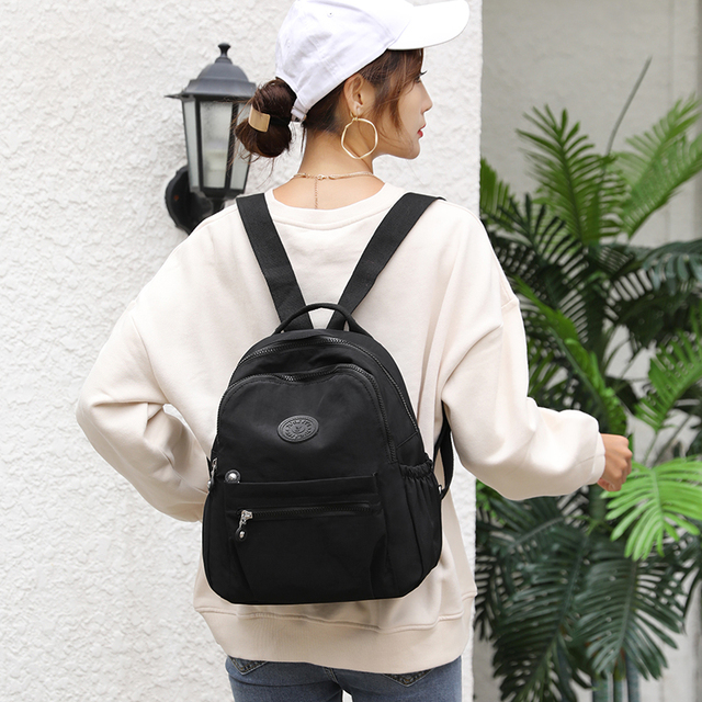 Women Waterproof Nylon Backpack Fashion Female Shoulder Bag Youth Vitality Style Multi-functional Travel School Bag 3