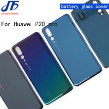 10 יח\חבילה חזרה סוללה זכוכית כיסוי החלפת חלק עבור Huawei P20 P20 פרו אחורי דיור מארז דלת בחזרה מקרה + מדבקה